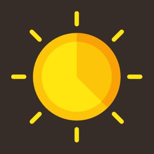 Solar clocks are like this radiant icon.