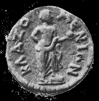 Anaxagoras of Clazomenae is depicted holding a globe with his foot on a cippus on this ancient coin.