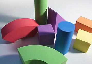 Anaxagorean sensations and quarks are like these painted building-blocks.