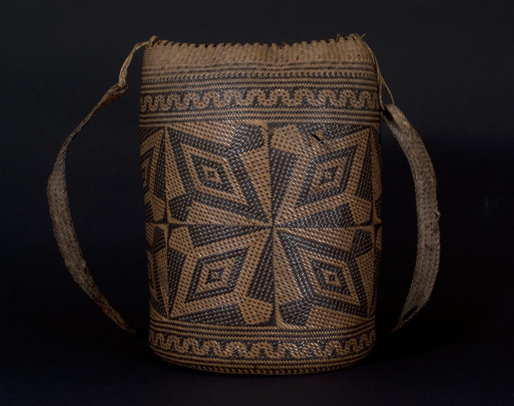 The norm is used to organize spatial relationships, somewhat like this ajat basket from Borneo.