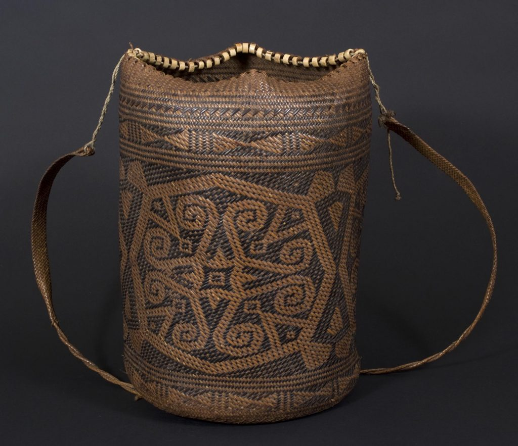 The metric is used to organize spatial relationships, somewhat like this ajat basket from Borneo.