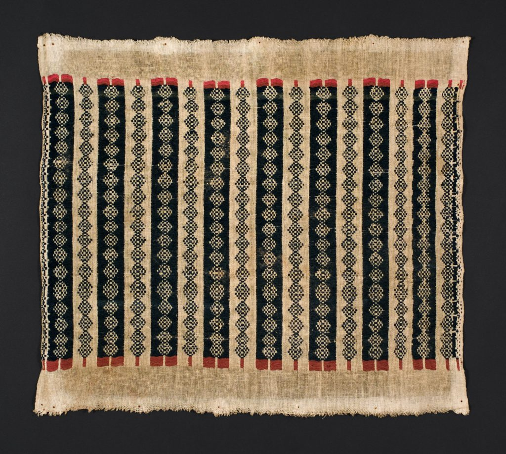Phase symmetry is suggested by this tightly structured Indonesian weaving.