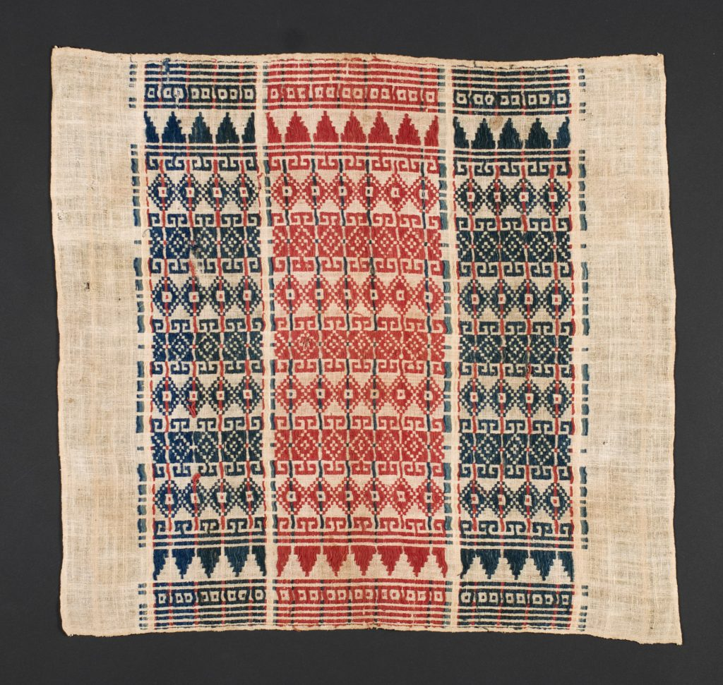 Processes, both thermal and thermodynamic, are suggested by this sacred weaving from Indonesia.