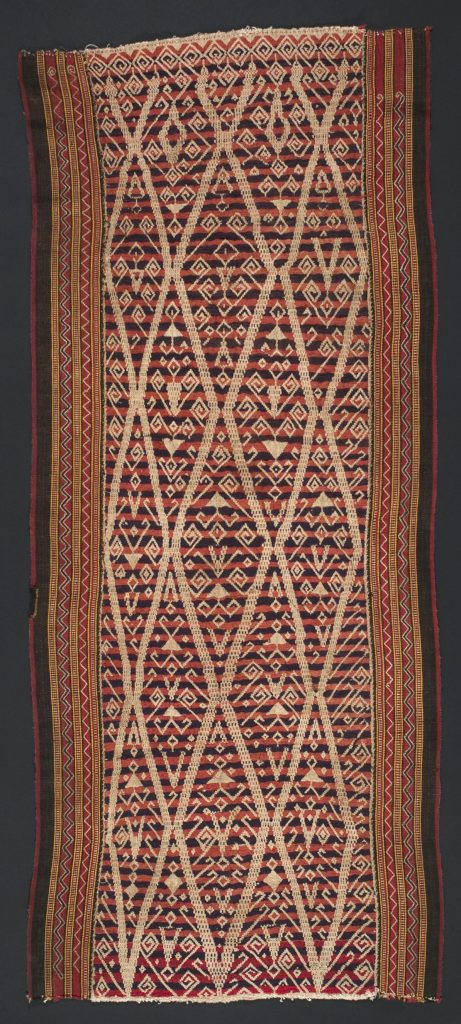 Position is defined by sums of displacements, somewhat like the pilih technique seen in this Maylasian textile.