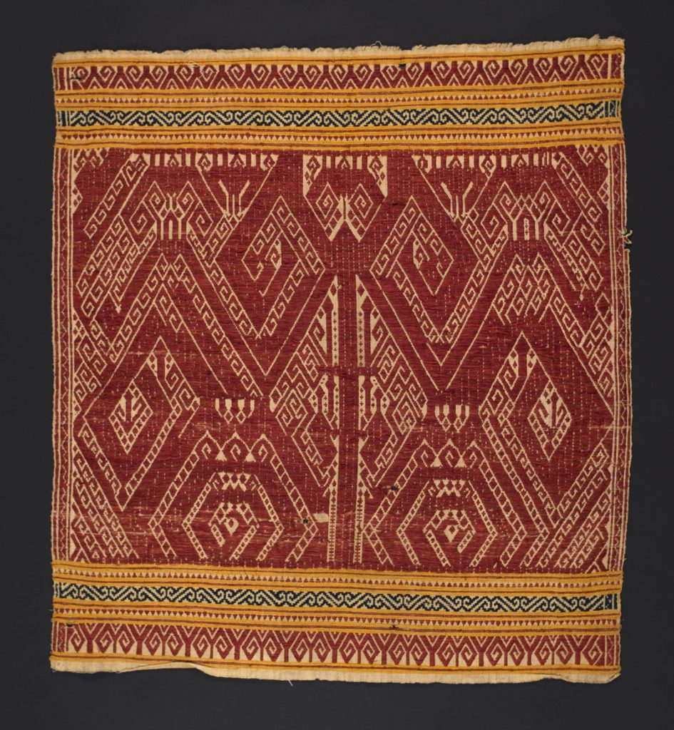Dynamic equilibrium results from balanced energies, as suggested by the writhing dragons in this Indonesian weaving.