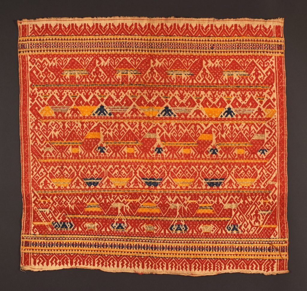 Newtonian particles are dense, somewhat like the imagery in this Indonesian textile with extensive supplementary weft details.